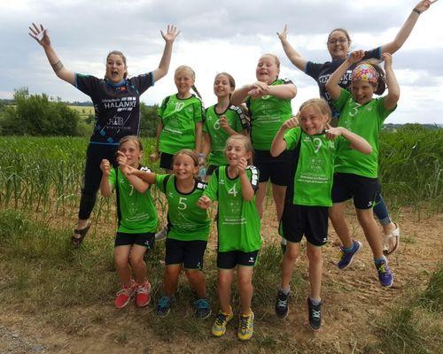 Beim Turnier in Rutesheim springen Platz 3 und 4 für die Handballkids des VfL Herrenberg heraus